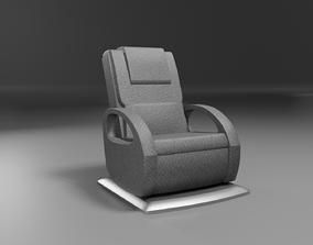 3D asset massage wellness chair modern black leather