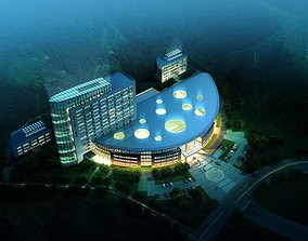 Hotel Building Design 3D