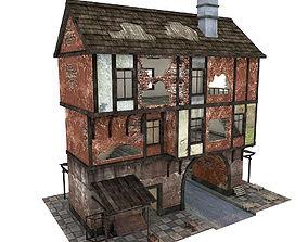 Medieval gate houseR 3D