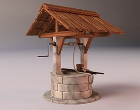 Medieval Stone Well 3D model