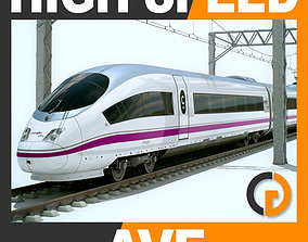 3D High Speed Train AVE Siemens Velaro