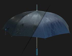 Wet Umbrella 3D model