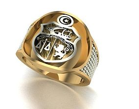 sintered man ring platinum 3D print model