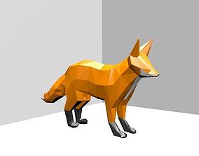Fox Low Poly 3D print model