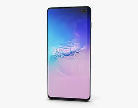 3D model Samsung Galaxy S10 Plus Prism Blue