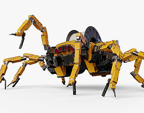 3D asset animated realtime Mechanical spider