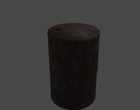 Rusty Metal Barrel 3D asset