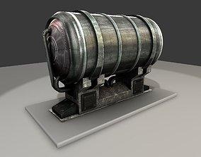 Metal Water Tank 3D model