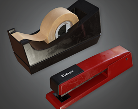 Desk Stapler - CLA - PBR Game Ready 3D asset