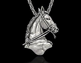 3D print model The Royal Horse Head Pendant