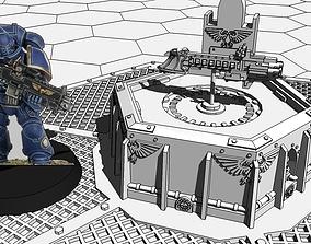 3D print model Small hexagonal gothica hologram table