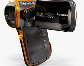 Panasonic HX-WA3 pocket camcorder 3D model