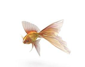 3D Fantasy Gold Fish rig