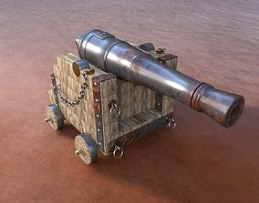 Old Cannon 3D model rifle
