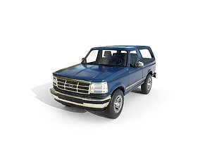 3D model Low Poly Car - Ford Bronco 1992