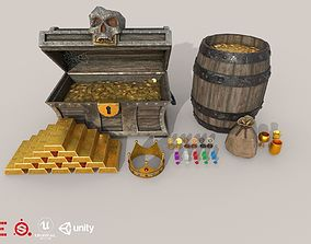 3D model HIE Game Ready Treasure Pack D180518