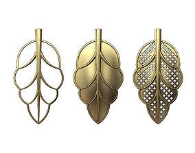 3D print model Leaf pendant ornament