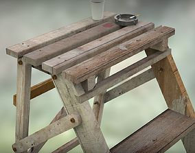 Step Ladder and Props 3D model