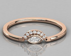 Women solitaire ring 3dm render detail jewelry gold