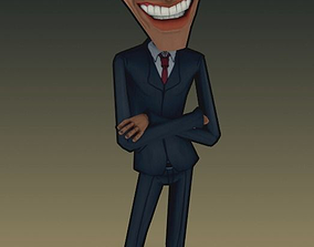 President Obama caricature 3d rigged rigged