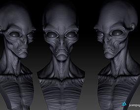 3D printable model Orion Grey Alien Bust alien