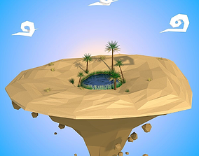 Floating Island 3D model low-poly