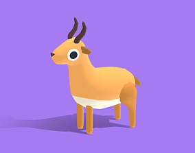 Anta the Antelope - Quirky Series 3D model