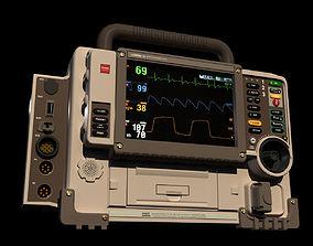 Defribrillator monitor 3D model defribrillator