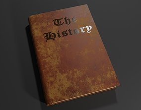 3D asset Old Book - Livro Antigo