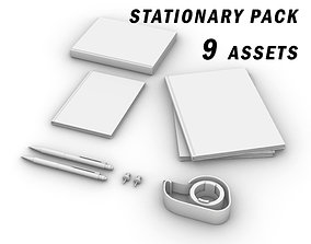 STATIONARY PACK 3D asset