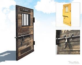 Western Prison Jail Door Low Poly PBR Free 3D model