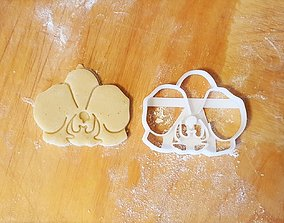 Orchid flower cookie cutter 3D print model