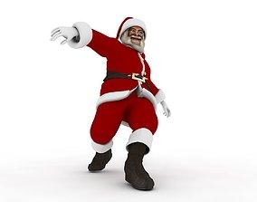 Dancing Santa Claus 3D asset