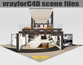 VrayforC4D scene files - Exhibition stand 3D model