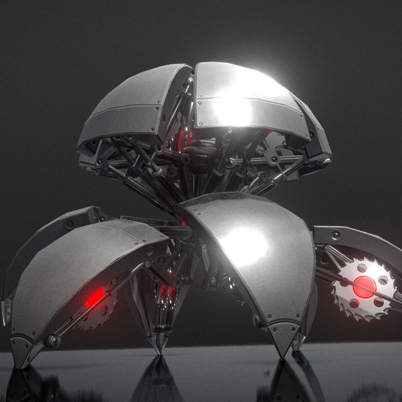 Hydraulic Sphere Bot - Sawblade Version