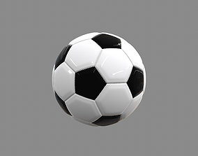 Traditional Football with Stitching 3D