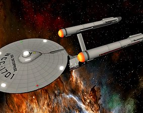 3D STAR TREK - USS ENTERPRISE NCC-1701