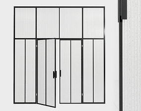 Glass partition door 91 3D asset