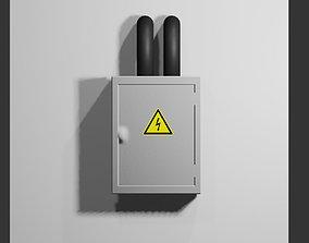 Circuit Breaker Box - Fuse - Electricity - 3D model 2