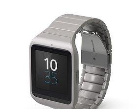Sony Smart Watch 3 Silver 3D model
