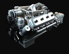 3D Kraz Engine With Gearbox