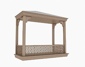 3D model realtime Wooden Balcony