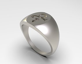 3D print model Prince Sott Large Love Signet Ring in US