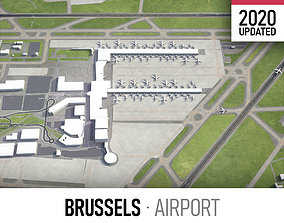 Brussels Airport 3D model