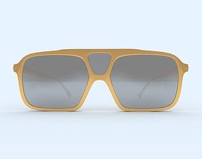 3D printable model Sunglasses Gold Frame