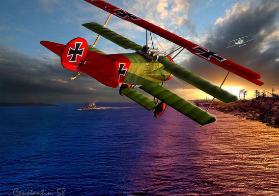 Airplane FOKKER DR 1 3D model