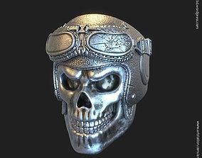 Biker helmet skull vol3 ring jewelry 3D print model