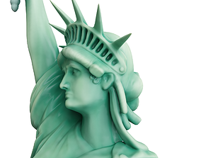 exterior 3D model VR / AR ready Statue Of The Liberty