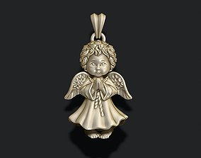 baby angel pendant jewelry 3D printable model