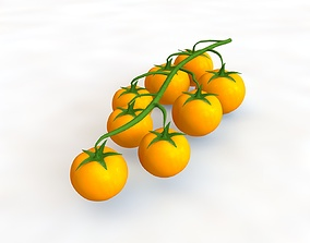 3D Tomato bunch yellow